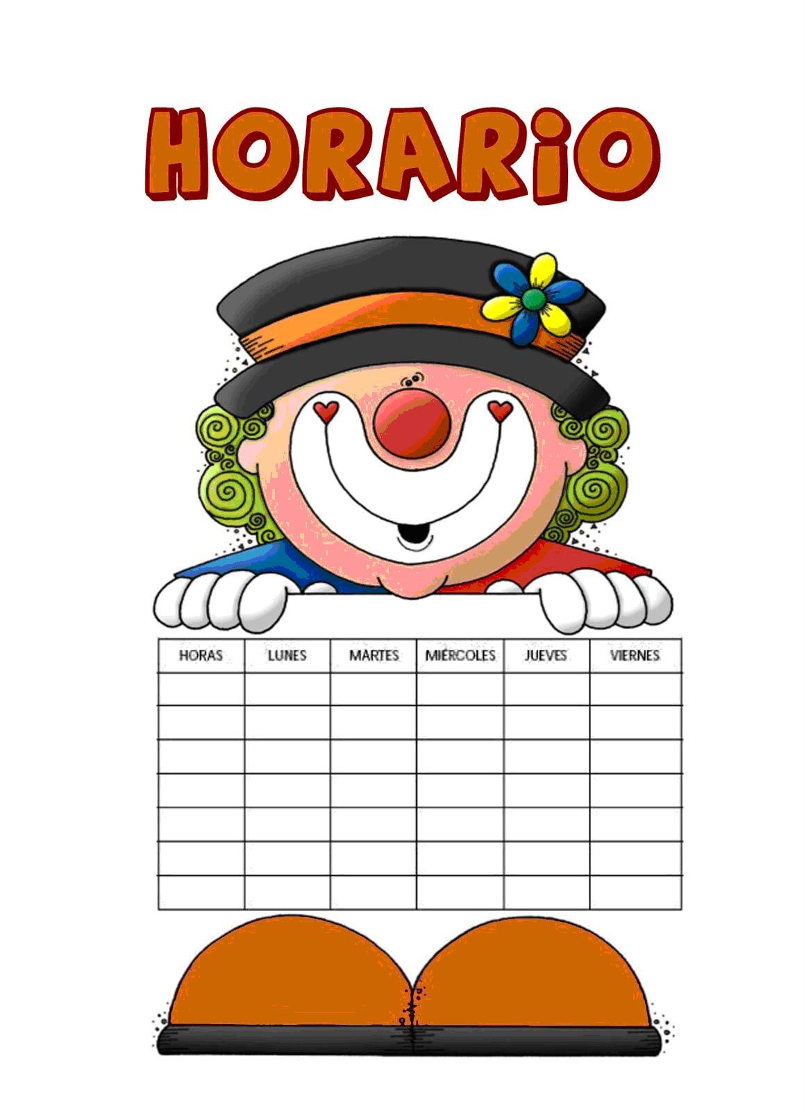 Horario De Clases Para Ninos